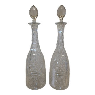 19th Century Crystal Decanters - a Pair For Sale