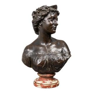 """James Milo Griffith """"Britannia"""" Bronze Bust For Sale"""