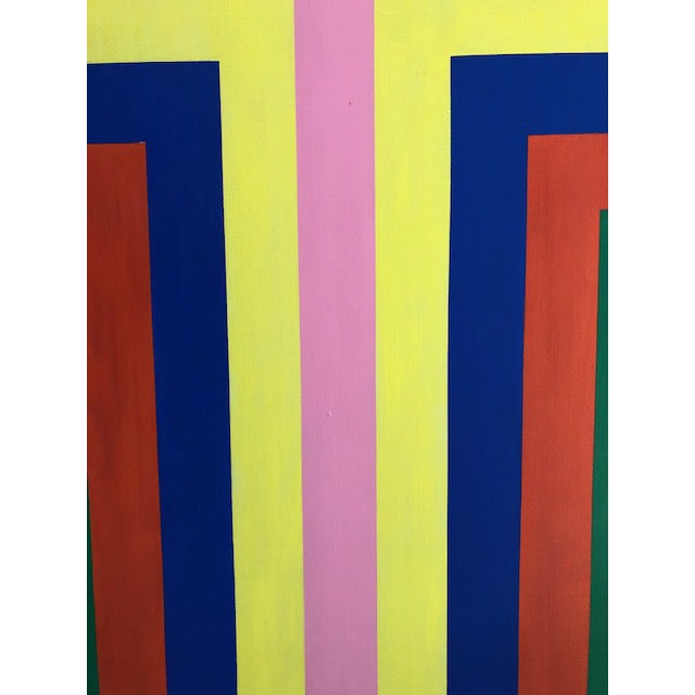1970s Vintage Large Opt Art Painting For Sale In Miami - Image 6 of 9