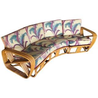 Paul Frankl Four Strand Rattan Four-Seat Corner Sectional Sofa