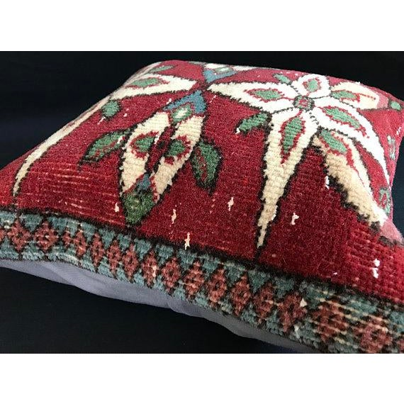 Colorful Turkish Wool Bohemian Pillow Cover For Sale - Image 9 of 11