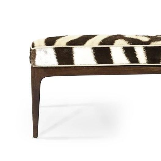 Americana Spectacular Genuine Zebra & Walnut Bench For Sale - Image 3 of 4