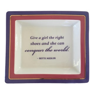 Porcelain Gold Edged Quote Tray For Sale