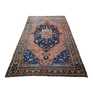 Late 19th Century Antique Persian Sarouk Farahan Rug - 7′ × 11′4″ For Sale