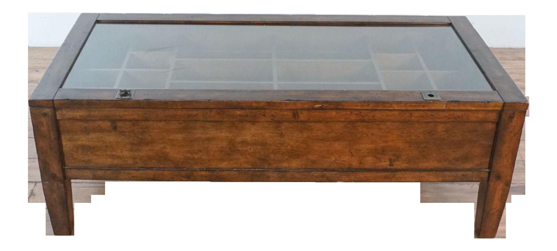 - Pottery Barn Townsend Shadowbox Coffee Table Chairish
