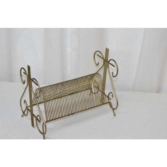 Early 20th Century 1960's Vintage Art Deco Brass Organizational Divider For Sale - Image 5 of 5