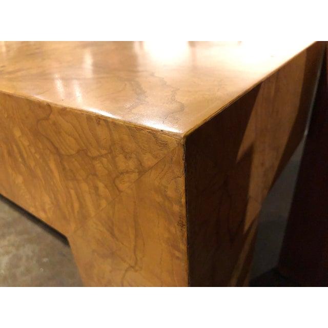 Late 20th Century Monumental Milo Baughman Burlwood Coffee Table For Sale - Image 5 of 10