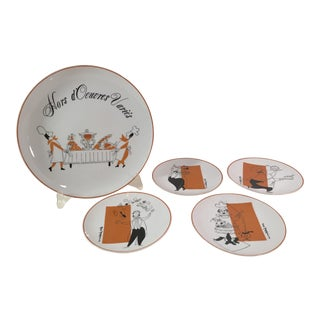 Vintage Hors D'Oeuvres Le Chef - Set of 5 For Sale