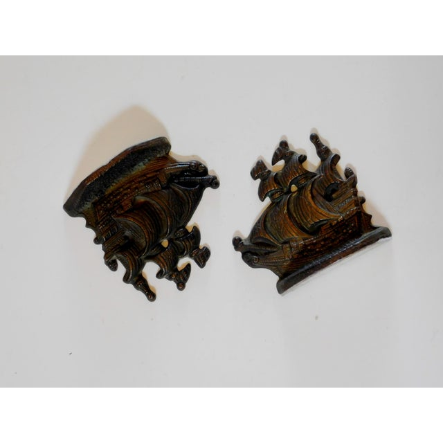1960s 1960s Brass Ship Bookends - a Pair For Sale - Image 5 of 7