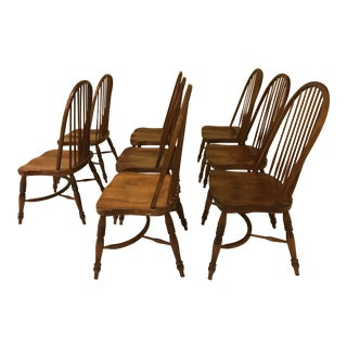 Vintage Windsor Style Chairs - Set of 8 For Sale