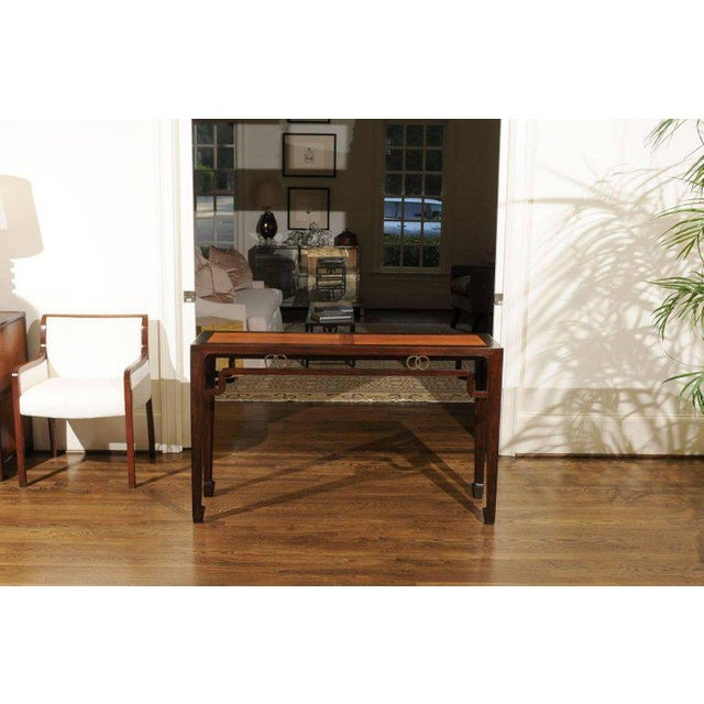 Baker Furniture Company Stunning Restored Altar Console Table by Michael Taylor for Baker, Circa 1970 For Sale - Image 4 of 11