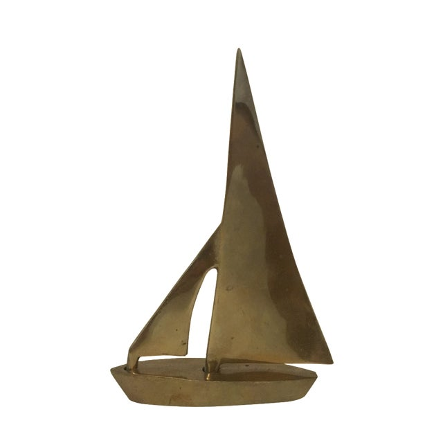 Brass Sailboat Sculpture - Image 1 of 4
