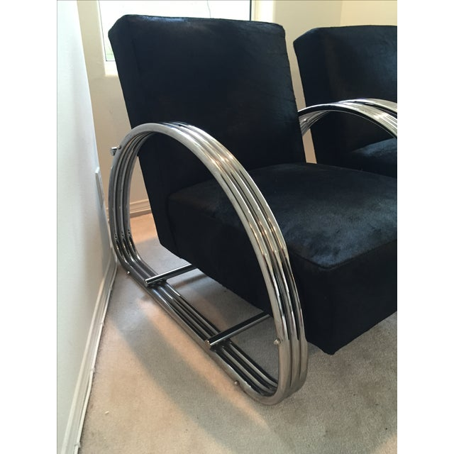 Modern Ralph Lauren Hudson Street Lounge Chairs - A Pair For Sale - Image 3 of 9