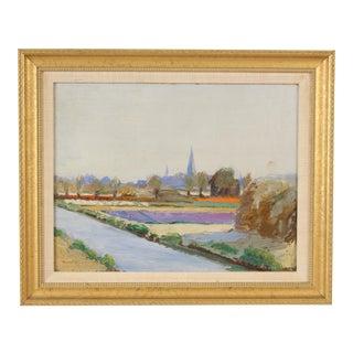 1930s Vintage Hannah Thompson Landscape Painting For Sale
