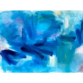 """Blue Hawaii"" by Trixie Pitts Large Abstract Oil Painting For Sale"