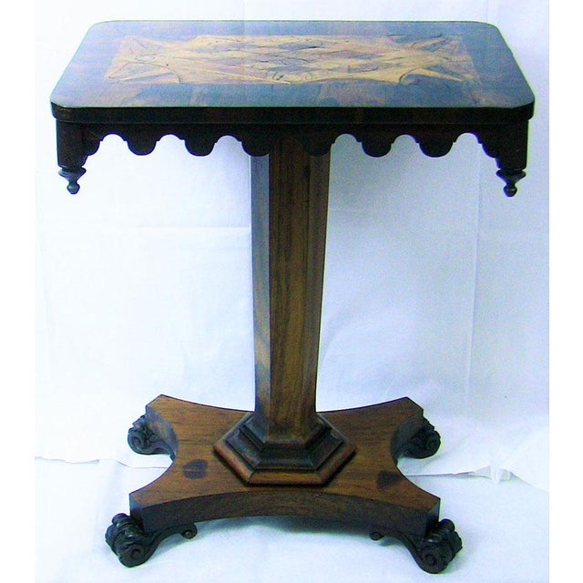19c British William IV Colonial Specimen Wood Side Table - Important For Sale - Image 4 of 12