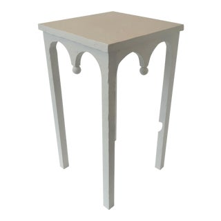 Riad Modern Artisan White Accent Table For Sale