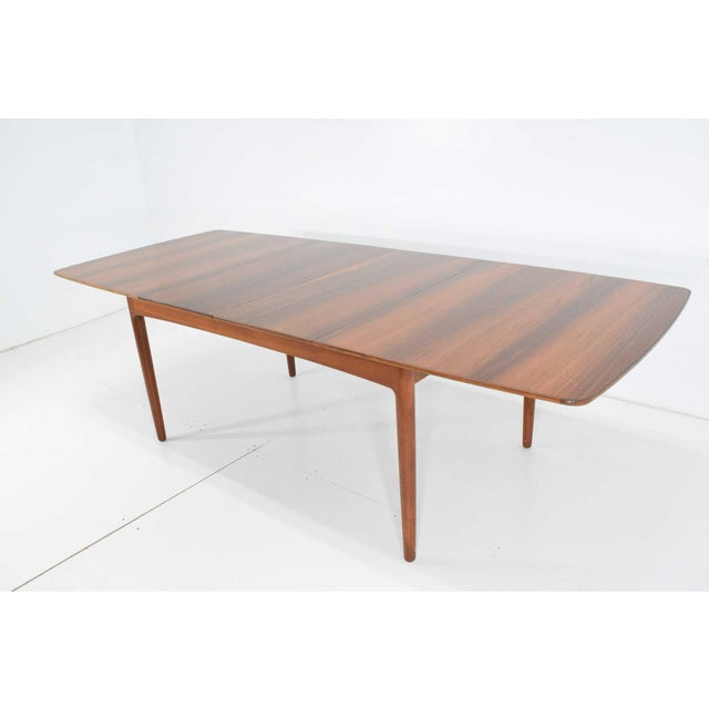 Worts Mobler Rosewood and Teak Dining Table by Worts Mobler For Sale - Image 4 of 11