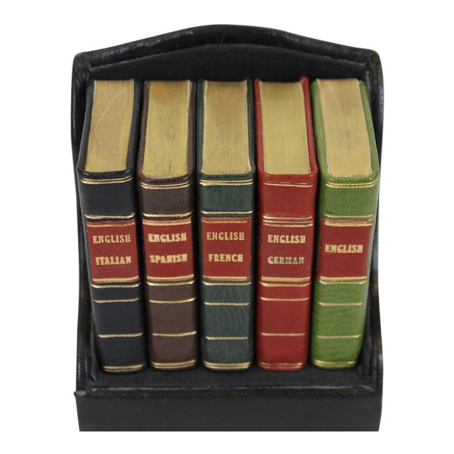 Miniature Italian, Spanish, German, French & English Dictionary Collection - Set of 5 - Image 1 of 5