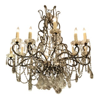 Vintage Beaded Chandelier For Sale