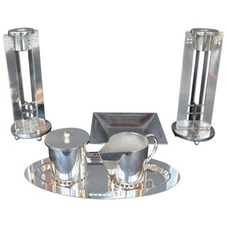 Richard Meier for Swid Powell Silver Plated Set For Sale