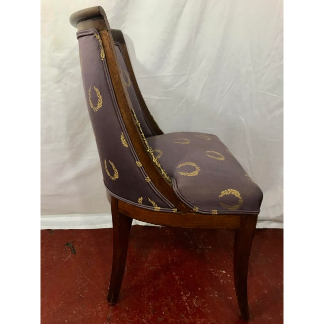 French Empire Side Chairs, a Pair For Sale - Image 10 of 12