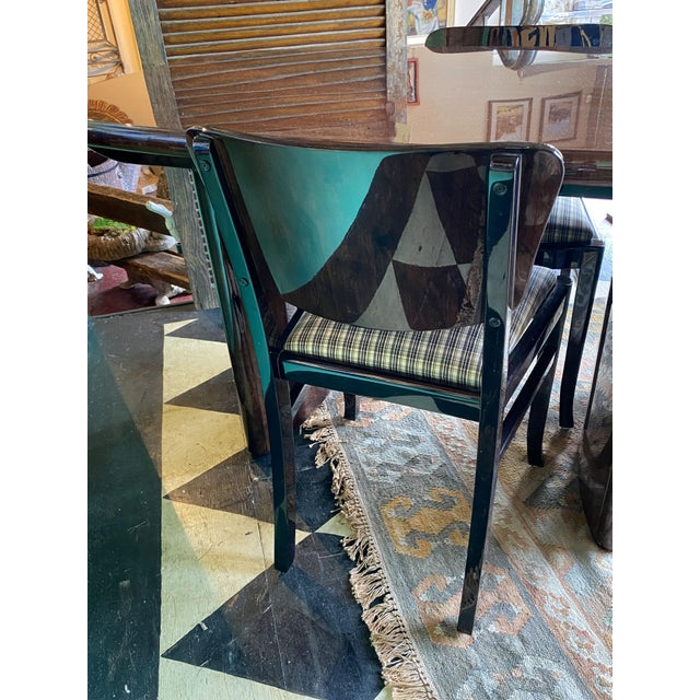 1930s Ebonized 20th Century English Dining Chairs - Set of 6 For Sale - Image 5 of 7