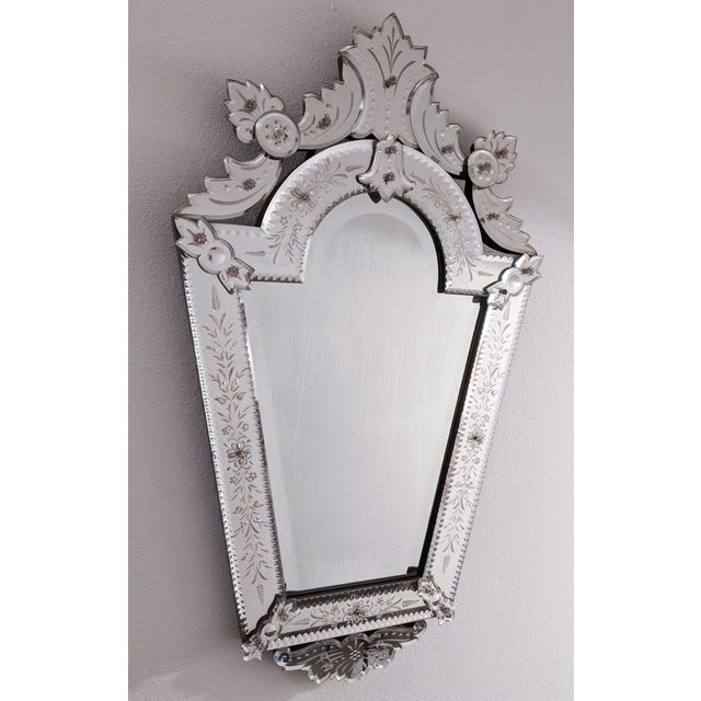 Early 20th Century Vintage Etched Venetian Mirror For Sale - Image 13 of 13