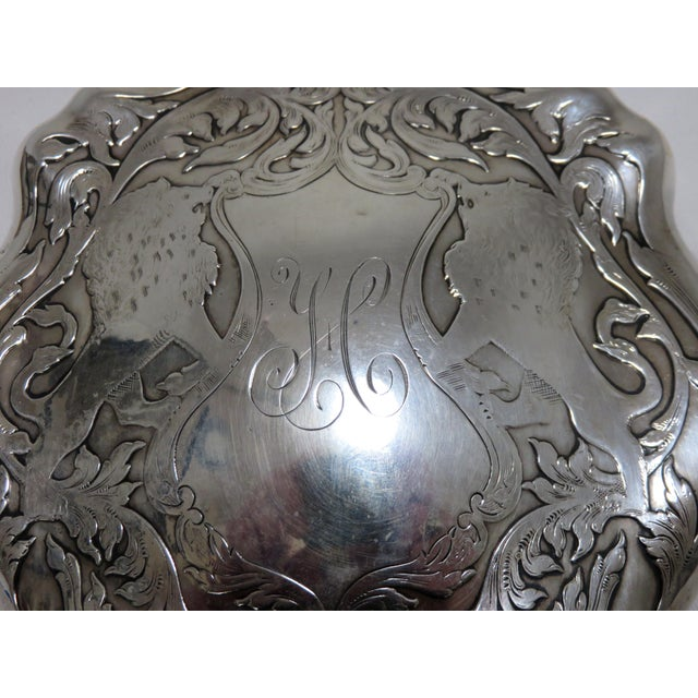 Silver Antique Sterling Silver Hand Mirror For Sale - Image 8 of 10