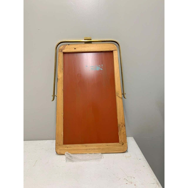 Circa 1950s Italian Brass Frame Mirror, Gio Ponti Attributed For Sale - Image 11 of 12