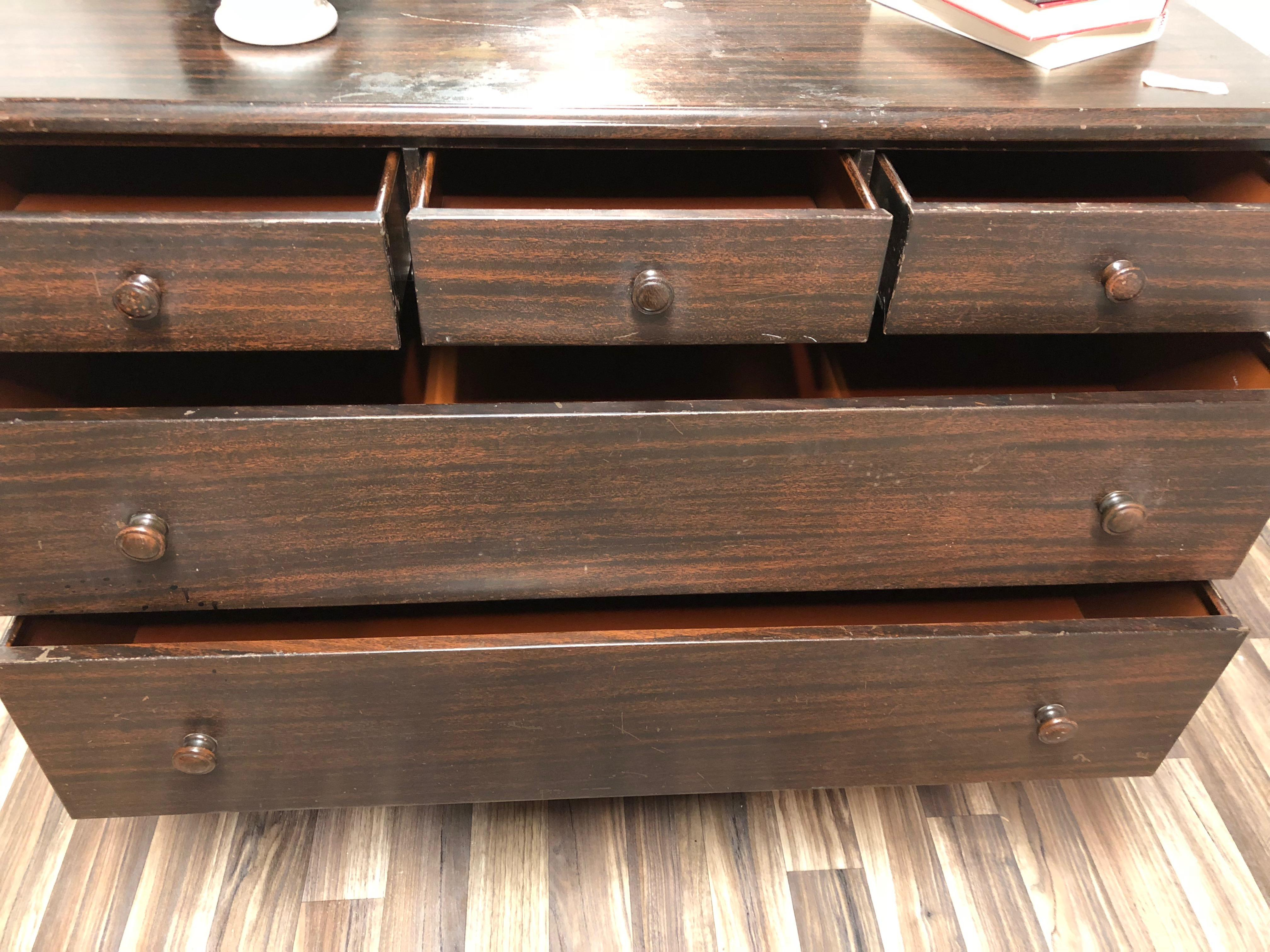 vintage industrial simmons metal side table. American Classical Large Vintage 1930s Simmons Metal Dresser For Sale - Image 3 Of 7 Industrial Side Table A