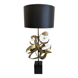 1970s Brutalist Sculptural Lamp by Laurel Company For Sale