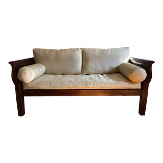 British Colonial Style Sheesham Wood Two Seater Sofa For Sale