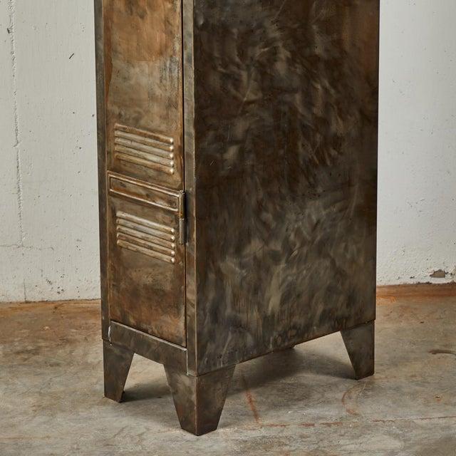 German Industrial Metal Lockers, circa 1940 - A Pair For Sale In Los Angeles - Image 6 of 10