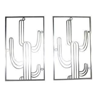 Saguaro Cactus Window Grills Vintage Cast Aluminum - a Pair For Sale