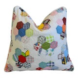 Image of American Patchwork Quilt Feather/Down Pillow For Sale