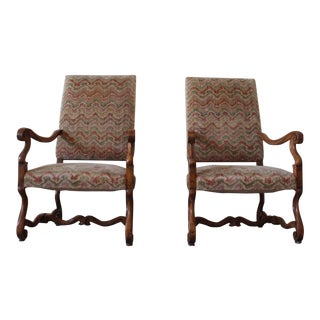 19th Century Antique French Mutton Chairs- A Pair For Sale