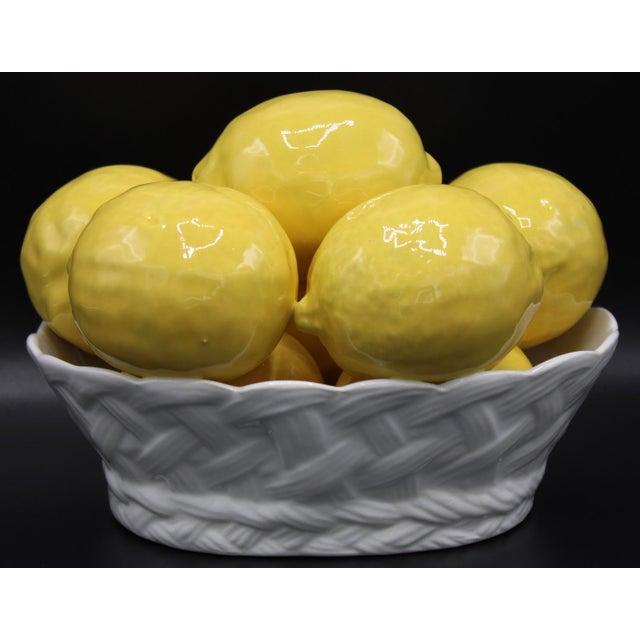 Majolica Italian Ceramic Lemon Basket For Sale - Image 4 of 9