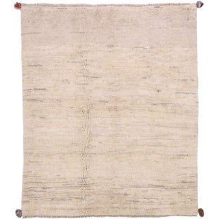 Vintage Mid-Century Persian Gabbeh Rug - 5′6″ × 6′4″ For Sale