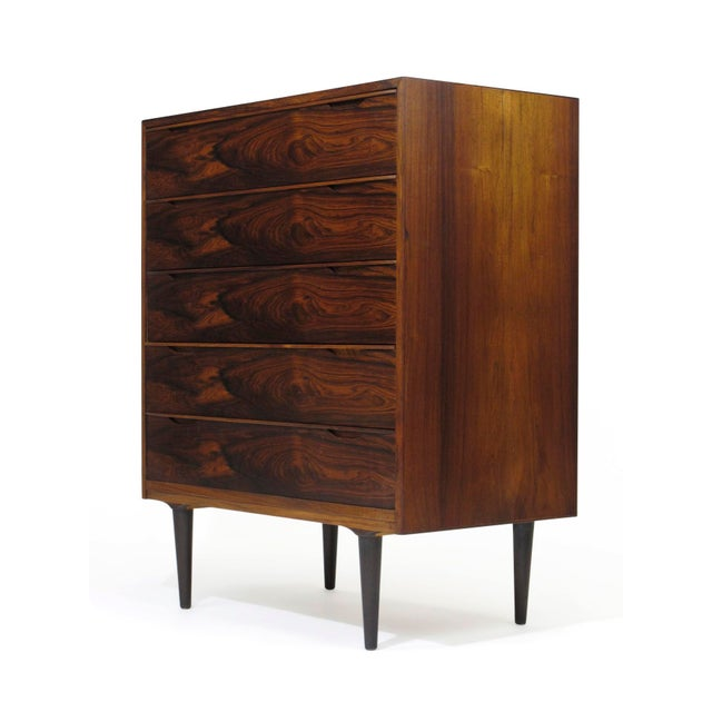 Vintage Mid Century Danish Brazilian Rosewood Chest of Drawers For Sale - Image 11 of 12