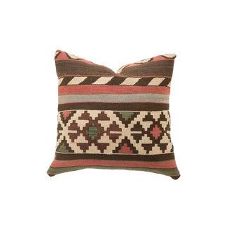 Reclaimed Antique Kilim Rug Fragment Pillow For Sale