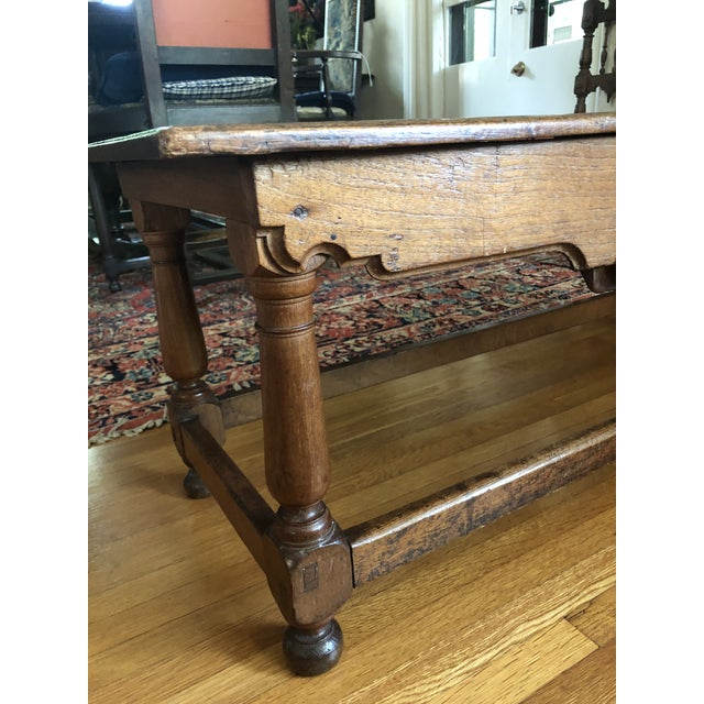 French Antique French Henry II Style Walnut Low Boy Coffee Table For Sale - Image 3 of 13