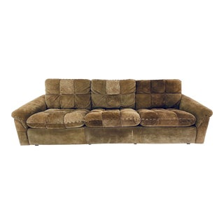 Exklusiv Suede Leather Sofa For Sale