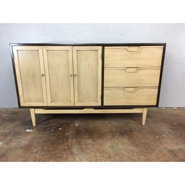 Danish Modern Two-Toned Mid Century Modern Credenza For Sale - Image 3 of 11