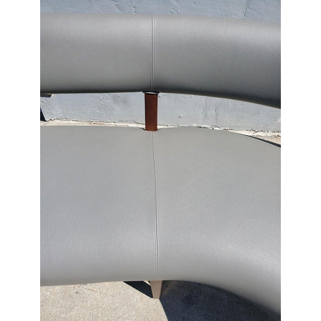 Gray New Custom Made Constantini Curved Bruno Bench For Sale - Image 8 of 11