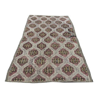 Vintage Anatolian Tribal Floor Kilim - 5′3″ × 9′2″ For Sale