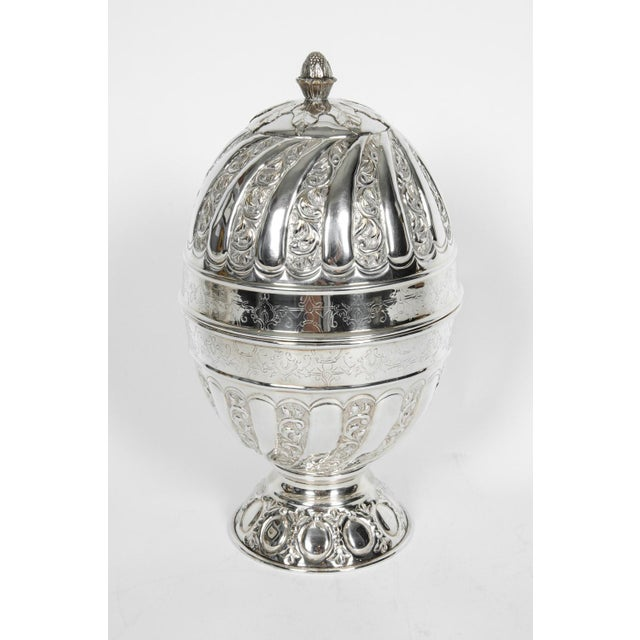 Sheffield Silver Plated Egg Shape Liquor Cave - 7 Pc. Set For Sale - Image 13 of 13
