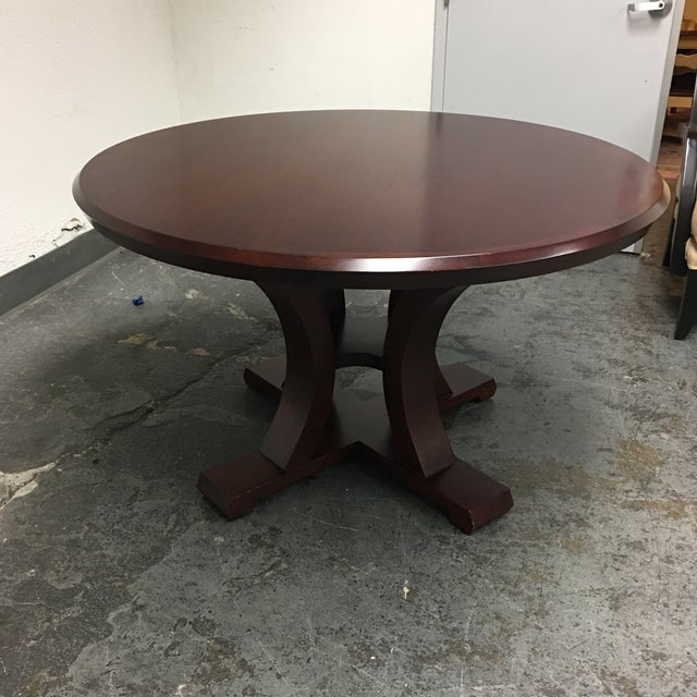 Design Plus Gallery has a custom round Lana Table. Purchased custom ordered from a designer showroom in San Francisco. A...
