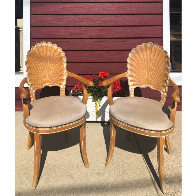 Italian Seashell Chairs- a Pair For Sale - Image 9 of 9