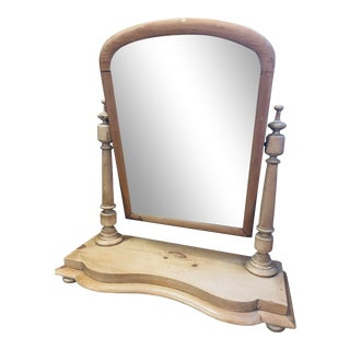 19th Century English Pine Dressing Table Mirror For Sale